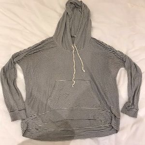 American Eagle Striped Cotton Hoodie
